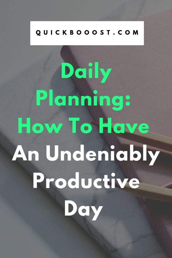 Daily planning is a must when it comes to your time. Learn how to create your own daily plan and become undeniably more productive.