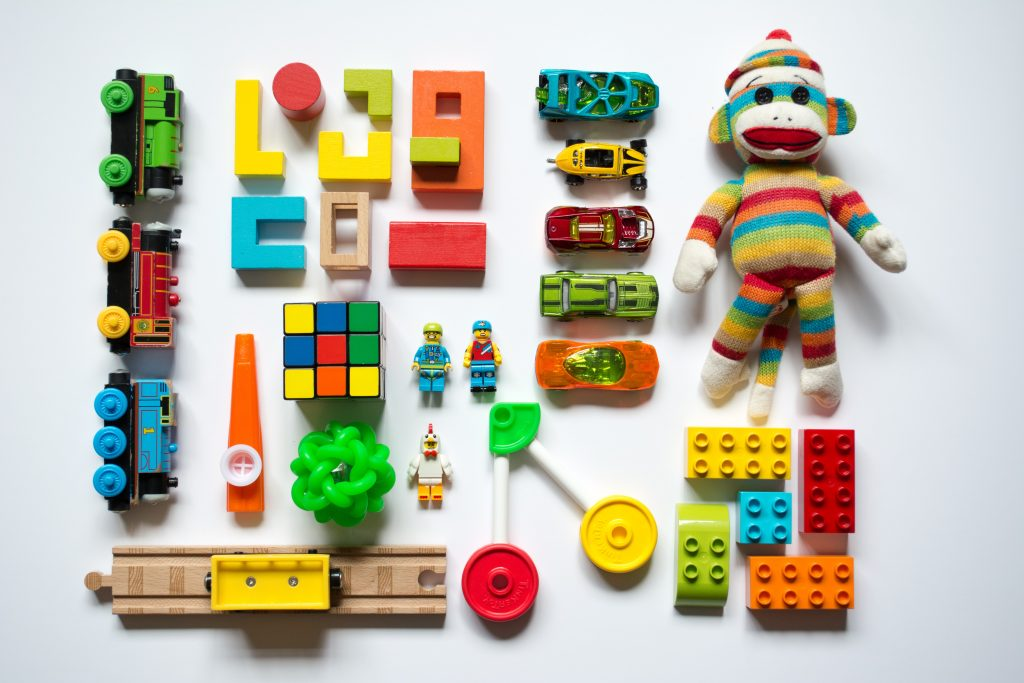 Many brightly colored toys for children.