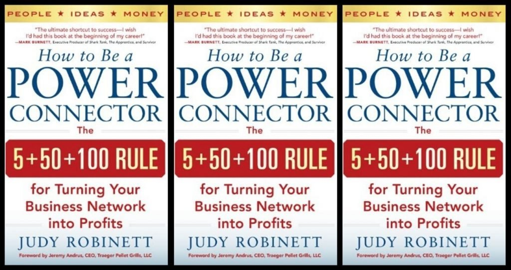 A copy of the book, How to Be a Power Connector.