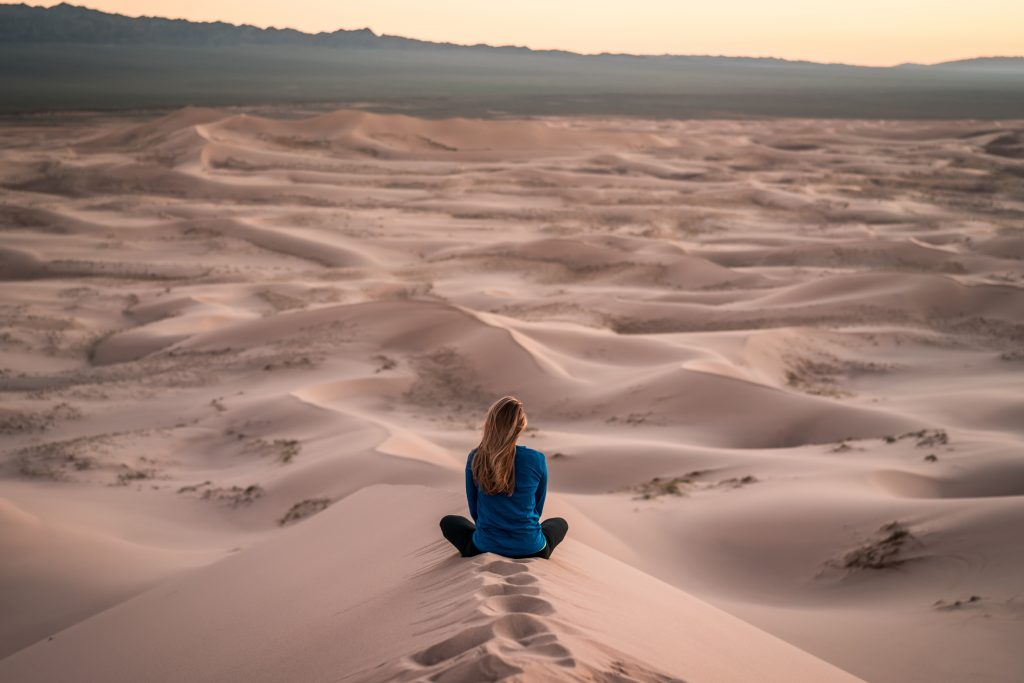 Meditating was out of my comfort zone. So I eased into it.