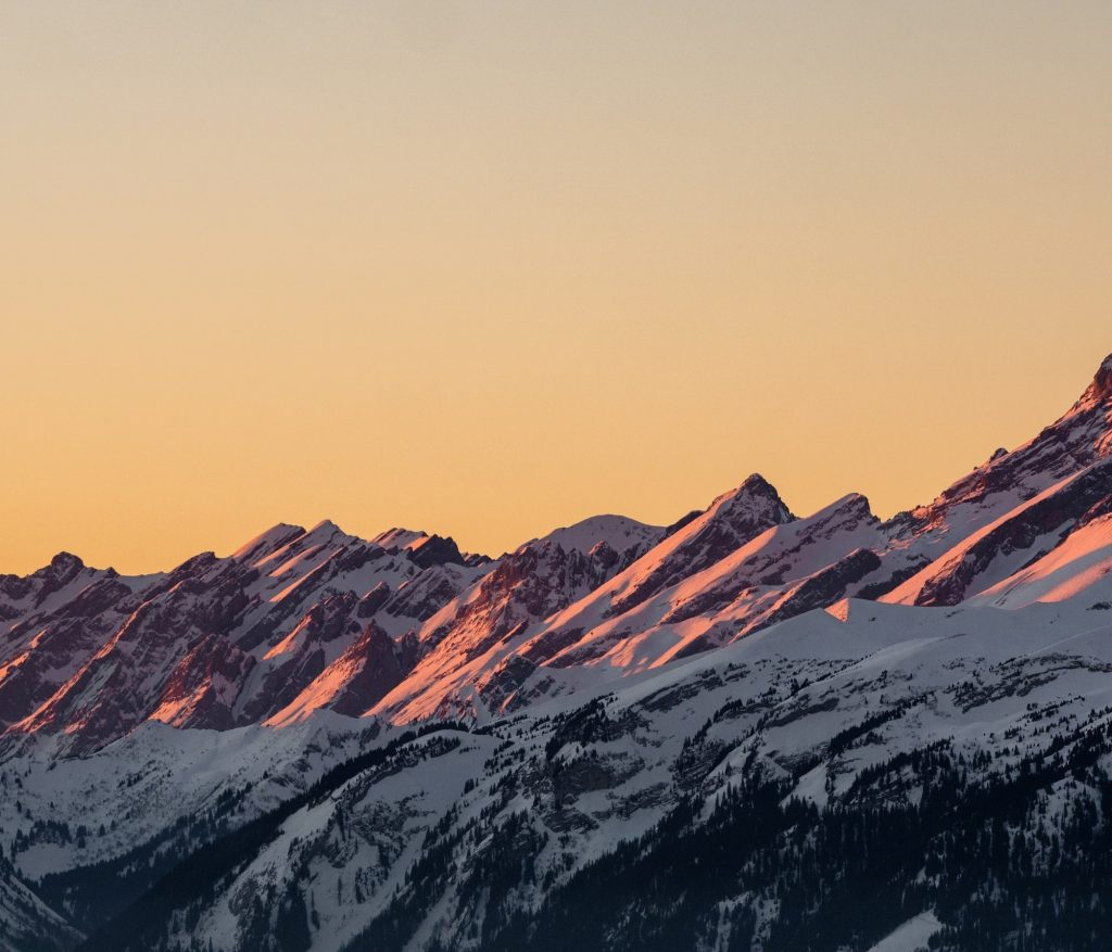 A mountain range growing from left to right.