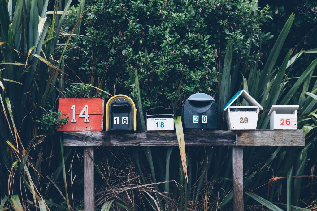 Many mailboxes.